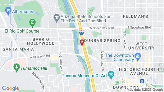 Country Inn & Suites by Radisson, Tucson City Center, AZ Map