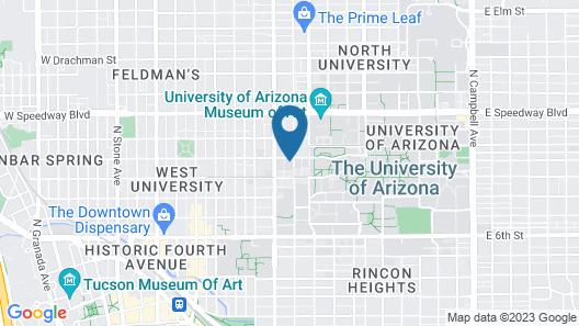 Tucson Marriott University Park Map