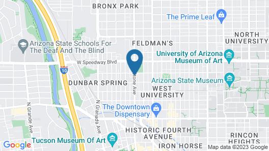 University Inn Map