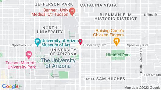 Aloft Tucson University Map