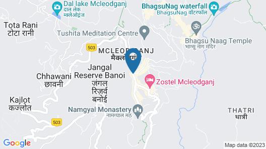 Hotel Asian Plaza Mcleodganj Map