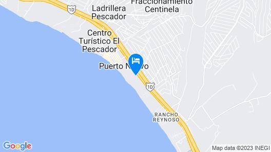 Puerto Nuevo Baja Hotel & Villas Map