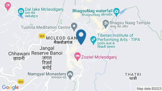 White Water Inn McLeodganj Map