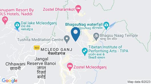 Hotel Gandhi's Paradise Map