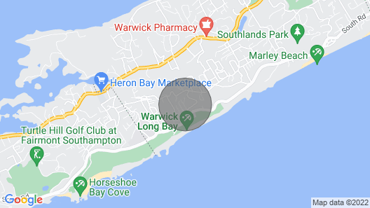 Clairfont, Jobson's Cove / Warwick Long Bay/ Horseshoe Beach - Apartment 1 Map