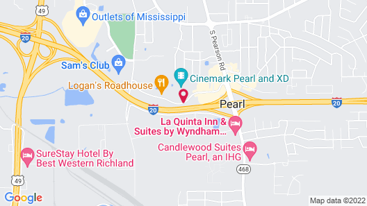 Hilton Garden Inn Pearl Map