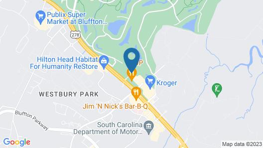 Comfort Suites Bluffton - Hilton Head Island Map