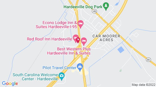 Red Roof Inn Hardeeville Map