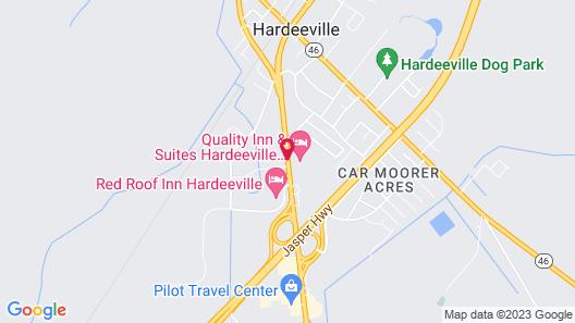 Super 8 by Wyndham Hardeeville Map