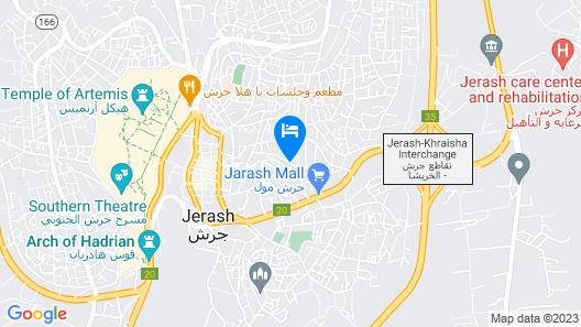 1955 Heart of Jerash Map