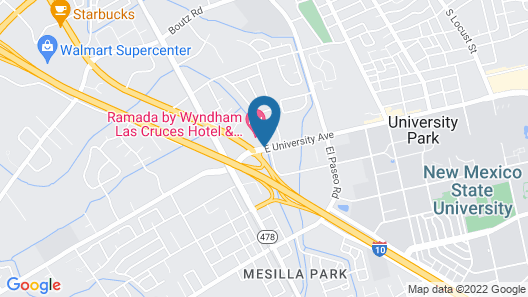 Ramada Hotel & Conference Center by Wyndham Las Cruces Map