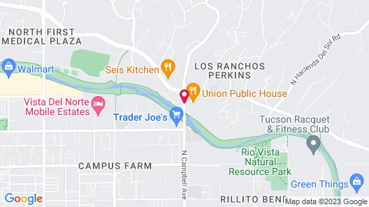 Homewood Suites by Hilton Tucson/St. Philip's Plaza Univ Map