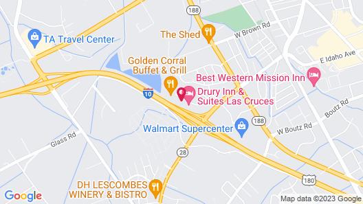 Hampton Inn & Suites Las Cruces I-10, NM Map