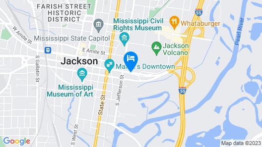 Hampton Inn & Suites Jackson-Coliseum Map