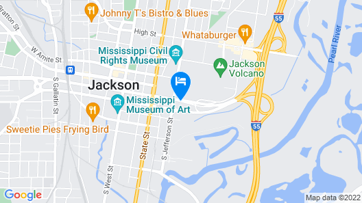 Holiday Inn Express & Suites Jackson Downtown - Coliseum Map