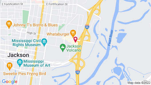 Holiday Inn Express & Suites Jackson Downtown - Coliseum, an IHG Hotel Map