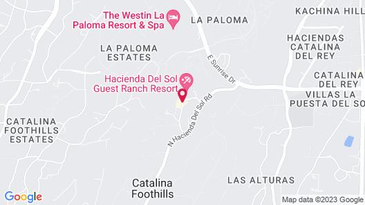 Hacienda Del Sol Guest Ranch Resort Map