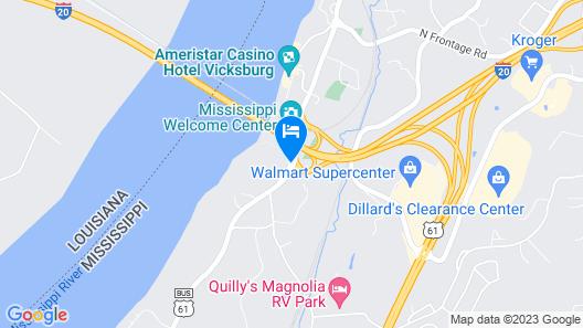 Days Inn & Suites by Wyndham Vicksburg Map