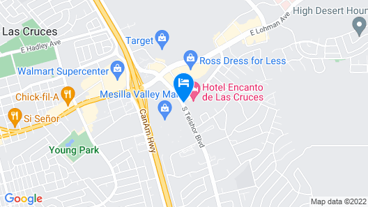 Hotel Encanto de Las Cruces Map