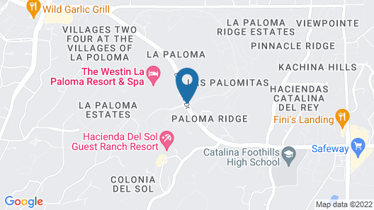 The Westin La Paloma Resort and Spa Map