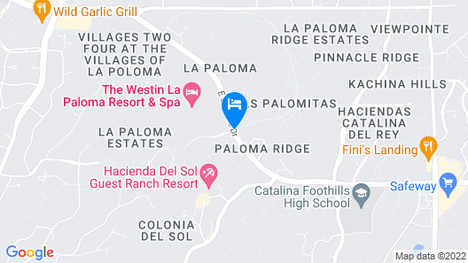 The Westin La Paloma Resort and Spa Map