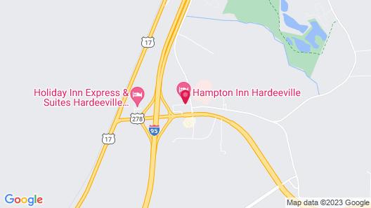 Hampton Inn Hardeeville Map