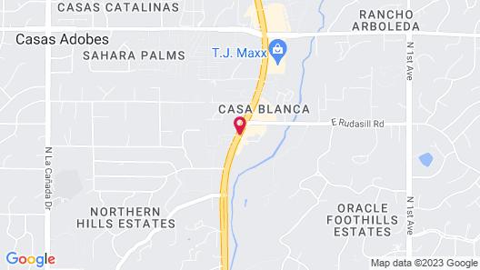 Hampton Inn & Suites Tucson-Mall Map