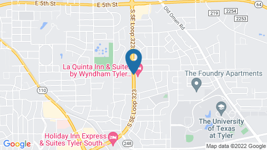 La Quinta Inn & Suites by Wyndham Tyler - University Area Map