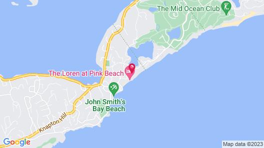 The Loren at Pink Beach Map