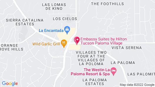 Embassy Suites by Hilton Tucson Paloma Village Map