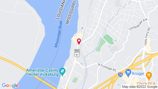 WaterView Casino and Hotel Map