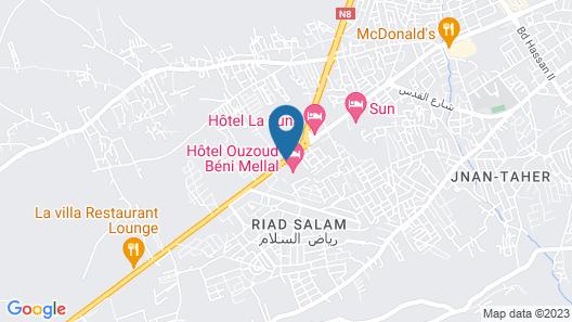 Hotel Ouzoud Beni Mellal Map