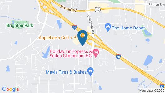 Americas Best Value Inn & Suites Clinton Jackson Map