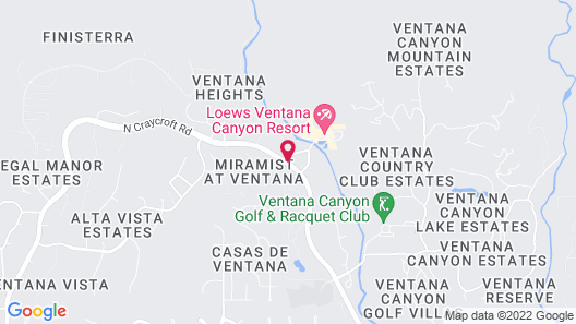 Loews Ventana Canyon Resort Map
