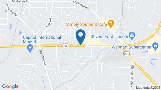 Super 8 by Wyndham Montgomery Map