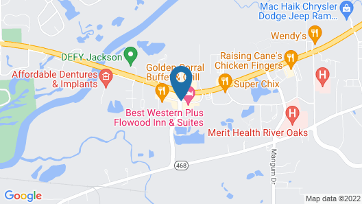 Best Western Plus Flowood Inn & Suites Map