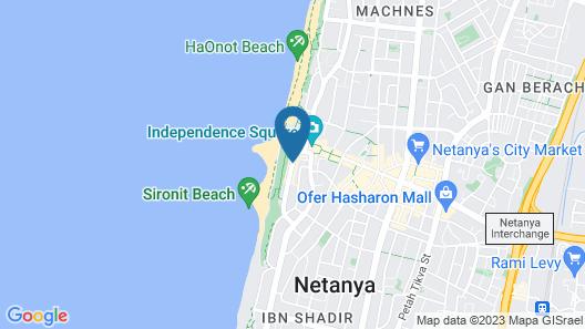 Margoa Hotel Netanya Map