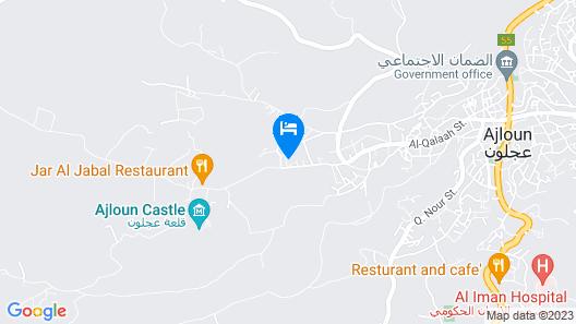 Ajloun Hotel Map