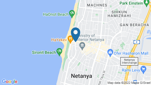 Leonardo Plaza Netanya Map