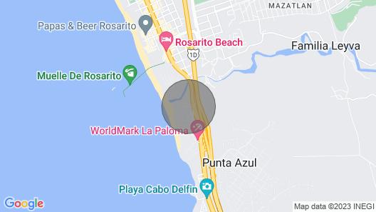 Villa 37 en Rosarito Map