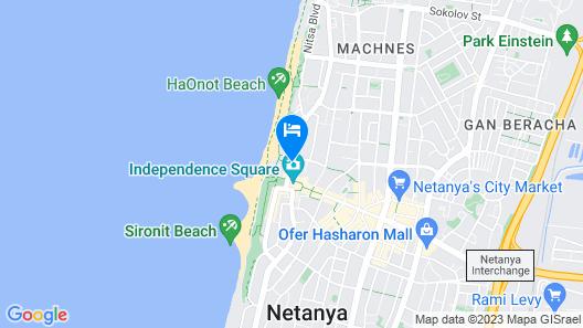 David Tower Hotel Netanya - MGallery Map
