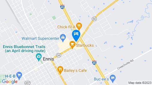 Quality Inn Ennis Map