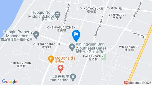 GreenTree Inn LiuAn HuoQiu County JianXing Road Express Hotel Map