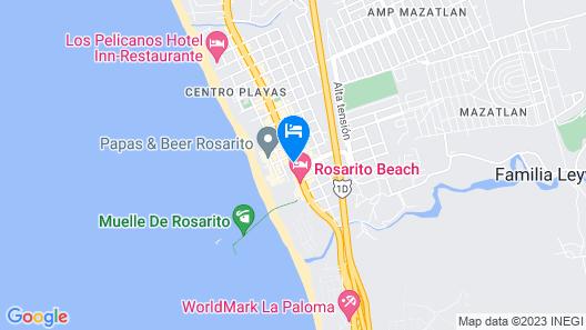 Hotel Festival Plaza Playas Rosarito Map