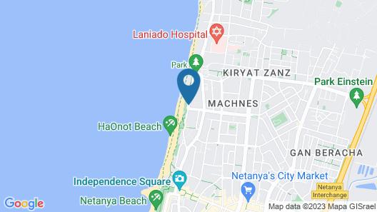 Azimut Hotel Medi Terre Netanya Map