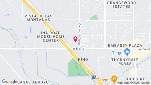Motel 6 Marana City, AZ - Tuscon - North Map