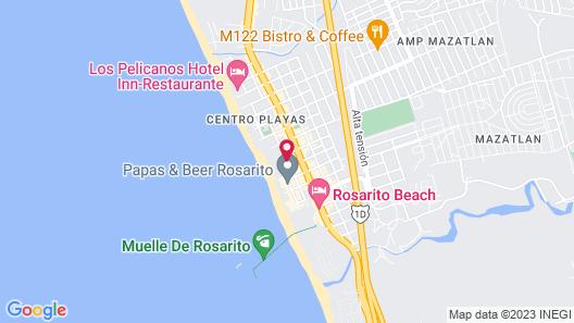 Oceana Condominiums - Rosarito Inn Map