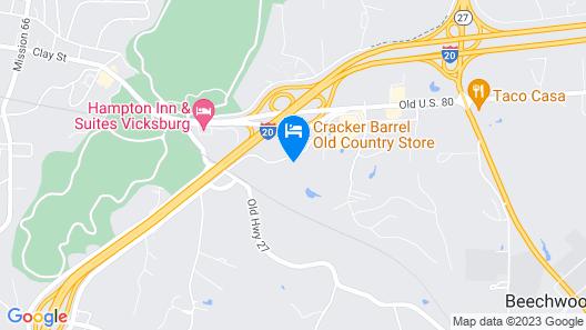 Quality Inn Vicksburg Map