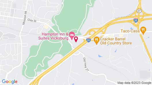 Hampton Inn & Suites Vicksburg Map