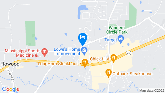 Candlewood Suites FLOWOOD, MS Map